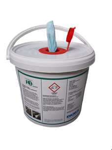 Bucket with Rochem Fyrewash wipes